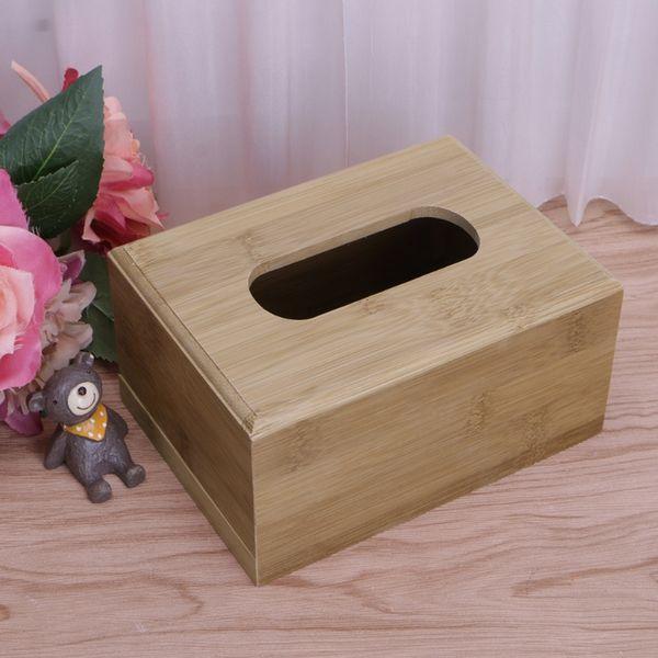 Diy Wooden Tissue Box Toilet Paper Holder Dispenser Square Napkin Case Easy To Draw Tissue Box Container