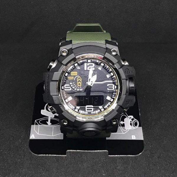 2018 Mens Militar G Estilo Relógios LED Analógico Dual Display relógios de Pulso de Quartzo Ourdoor Esporte Mens Relógios Masculinos Relógio Horas relogio masculino