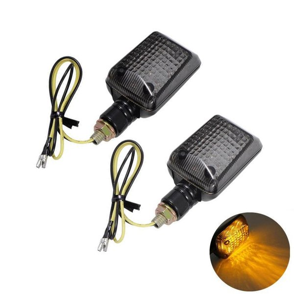 Universal Motorcycle Blinker LED Turn Signal Amber Indicators Lights Smoke Turn Signal Light Headlight