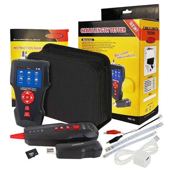 купить оптом Nf 8601 цифровой тестер длины кабеля Rj45 Rj11 Bnc коаксиальный сетевой портативный кабельный тестер проводной трекер Poe Ping Ethernet