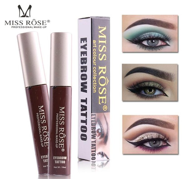 MISS ROSE colored eyebrow cream eyebrow thread liquid 10 color single color box not halo not afraid of rubbing anti-sweat anti-grease
