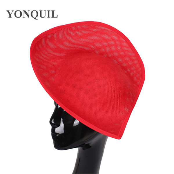 2018 New arrival Imitation SINAMAY 30CM red big Fascinator Base party derby hat church headpiece royal DIY hair accessories SYB05