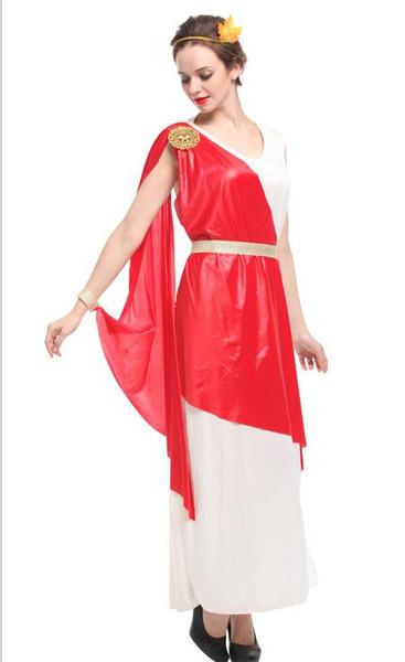 Altgriechische Mythologie-Göttin-sexy Kostüm-Frau-Halloween-Roman-Dame Queen Cosplay, die Tuch Karnevals-Maskeradekleid zeigt