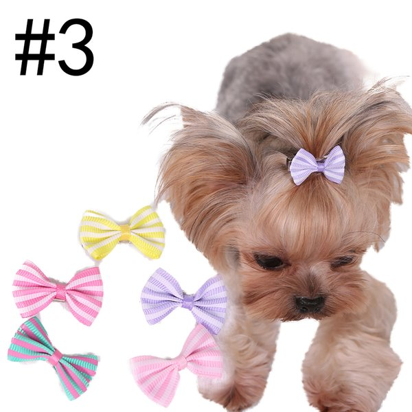Lovely 3.5cm 9 Styles Bowtie Dogs Hair Accessories Pet Clips Grooming Gift Products Cute Dog Ornaments Supplies