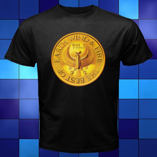 New Earth Wind Fire Il miglior logo Black T-Shirt Taglia S M L XL 2XL 3XL