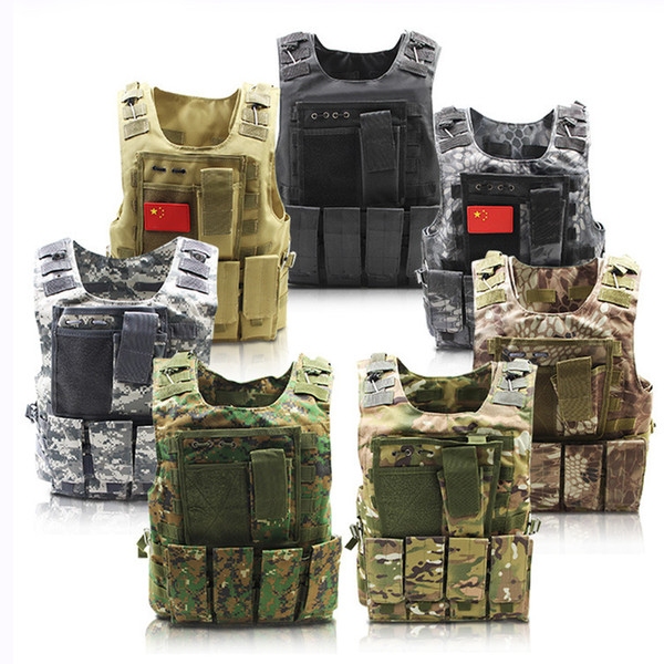 Tactical Vest Army Molle Vest Combat Hunting with Pouch Assault Plate Carrier CS Outdoor Jungle Equipment