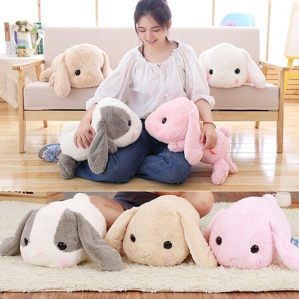 40 cm grandes orejas largas de conejo de peluche juguetes de peluche de conejo de conejo de juguete suave bebé niños dormir almohada juguetes navidad regalo de cumpleaños