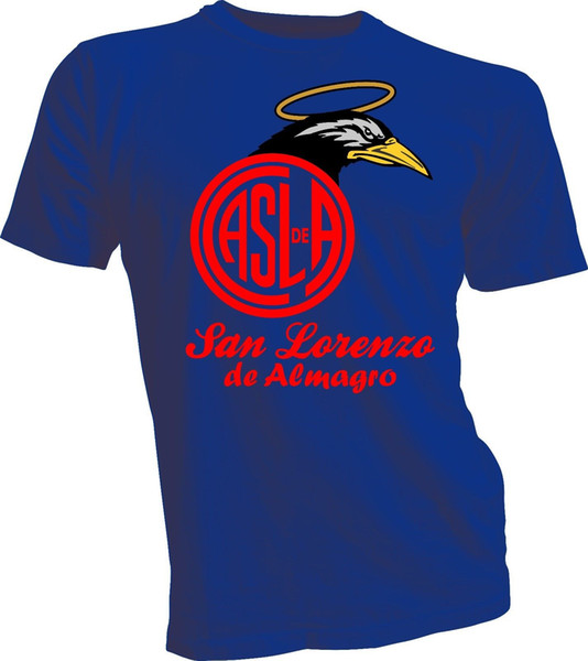 Club Atletico San Lorenzo De Almagro Argentina Camiseta T Shirt Remera Cuervos 1 T Shirt Men Boy Fashion Custom Short Sleeve Valentine's Plu