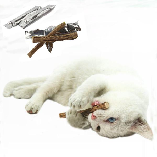 Cat Brinquedos Catnip Silvervine Dentes Varas Gatos Saúde Dental Varas Animais de Estimação Catnip Produtos brinquedos de madeira gatos lanches gatos favorecem mais novo