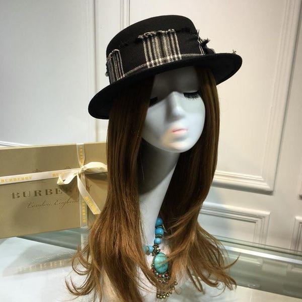 Wool Cashmere Peaked Beanie Cap Wool Yarn Hats Autumn And Winter LADIES Wide Brim Sun Hat (65429)