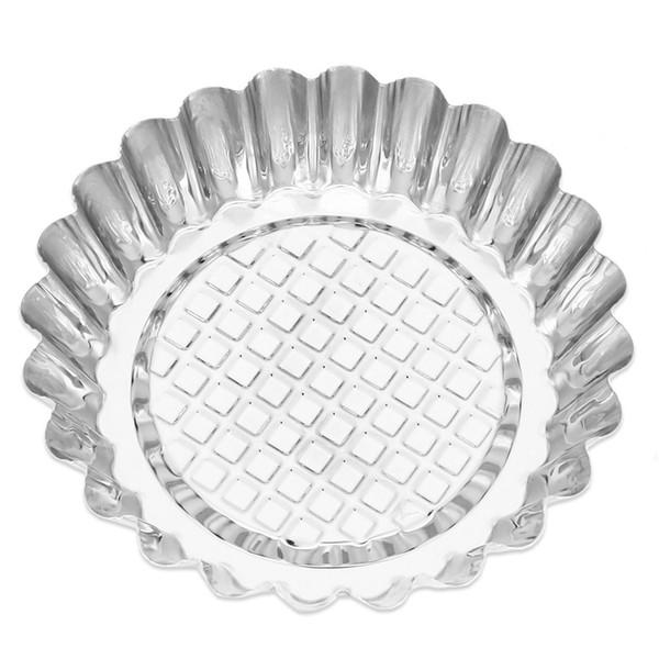 6 pcs Ovo Tart de Aço Inoxidável Rodada Em Forma de Flor Queque Bolo Pudim Biscoito Moldes Ferramentas De Cozimento De Cozinha Artesanato Ferramenta Kit
