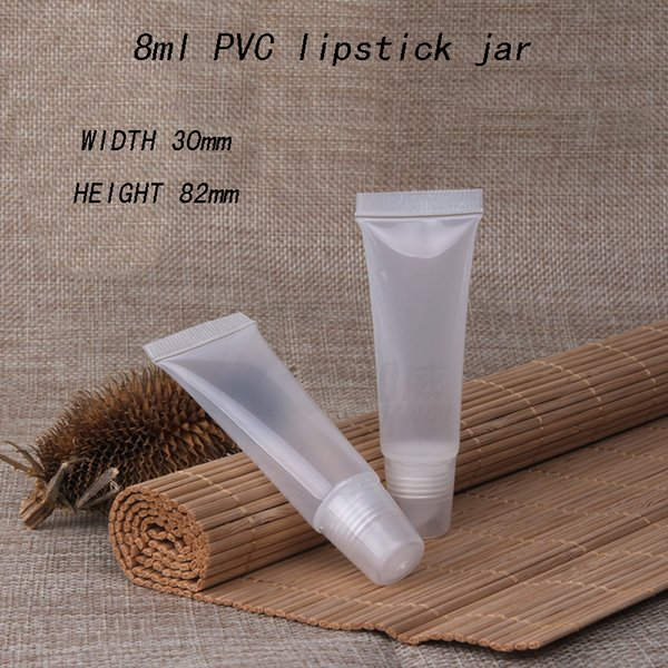 Capacity 8ml 50pcs Lip gloss hoses, embellish plastic lipstick tube, extrusion plastic pipe