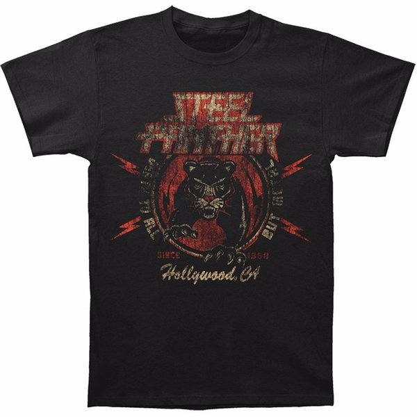Awesome Tees O - Neck Short New Mens Steel Panther Death To All But Metal Printed Graphic T-shirt Black 100% Cotton Tee For Men