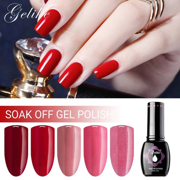 Gelike 15ml UV Gel Nail Manicure UV Nail Polish Winter Color Soak Off Gel  Polish Permanent Varnishes French Nail Gel Nail Gel Manicure From Boyyt,