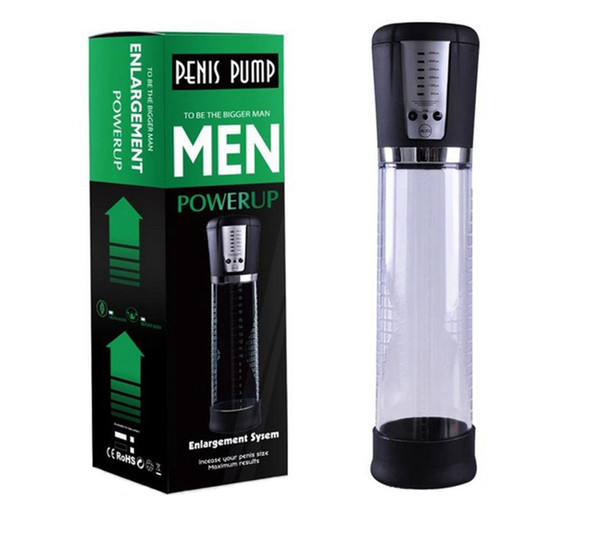 best selling High Quality Penis Pump Sex Toys For Men Electric Penis Vacuum Pump Extender Enlarger USB Charging Automatic Stretcher