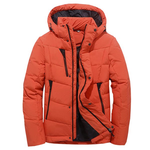 95% White Duck Down Coat For Men 2018 Youth Casual Hooded Thicken Keep Warm Overcoat Clothing Male Slim Fit Snow Parka Jacket