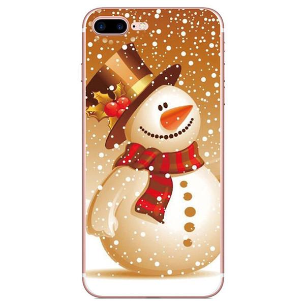 Santa Claus Skin per iPhone 5G 5S 5SE 6 7 8 9 10 X Xr Xs Max Cover TPU IMD Custodia Morbido Gel Gomma Plastica Silicone Regalo natalizio Shell