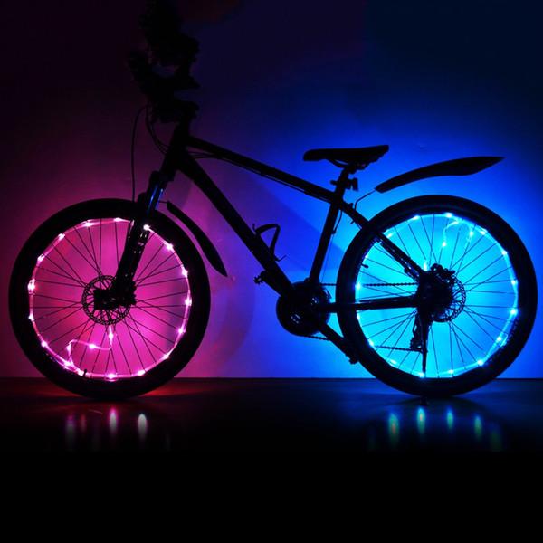 USB Charging Bicycle Spoke Wheel Light Waterproof MTB Lights 20 LED Bright Lamp Bike Accessories 2m String Lamp Drop Shipping