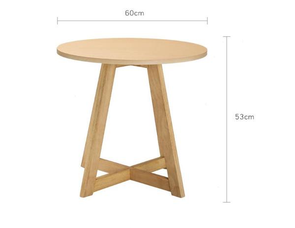 Acquista Tavolino Rotondo Da Salotto Da Salotto In Legno Massello Di Colore  Solido Gambe Creative Tavolino Da Salotto Tavoli Da Negoziazione A $95.48  ...
