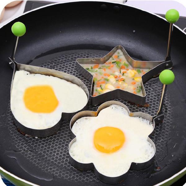 Paslanmaz Çelik Kızarmış Yumurta Şekillendirici yumurta Gözleme Halka Kalıp Kalıp Mutfak Pişirme Araçları Paslanmaz Çelik mutfak pişirme aracı ...