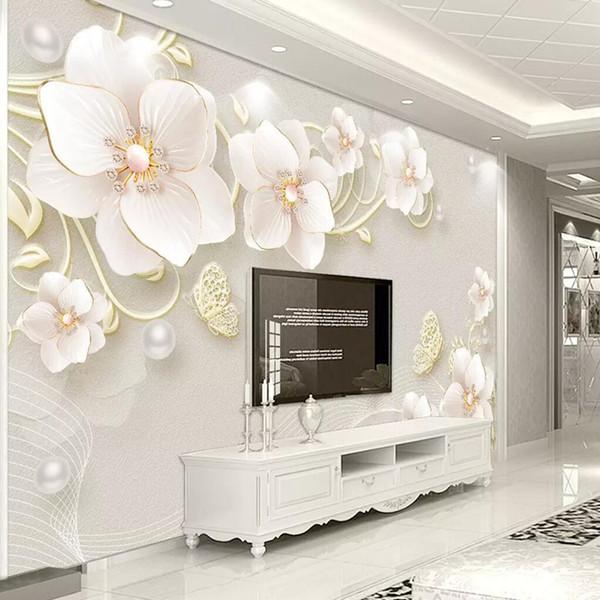 Acheter 3d Tv Fond Papier Peint Simple Salon Moderne Tv Peinture Murale Stéréoscopique Chambre Film Fond D écran Sans Soudure De 33 6 Du Andyhome168