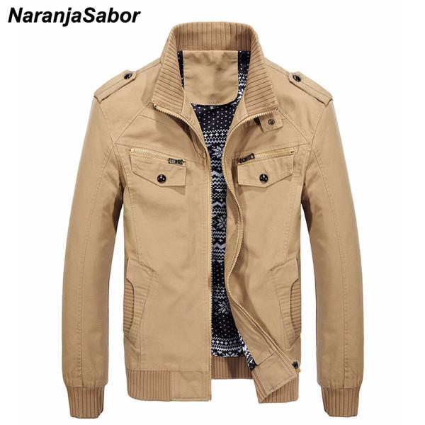 NaranjaSabor nuova giacca da uomo casual giacca a vento maschile slim fit zipper giacche uomo cappotti outwear uomo marca clothing plus size 4xl