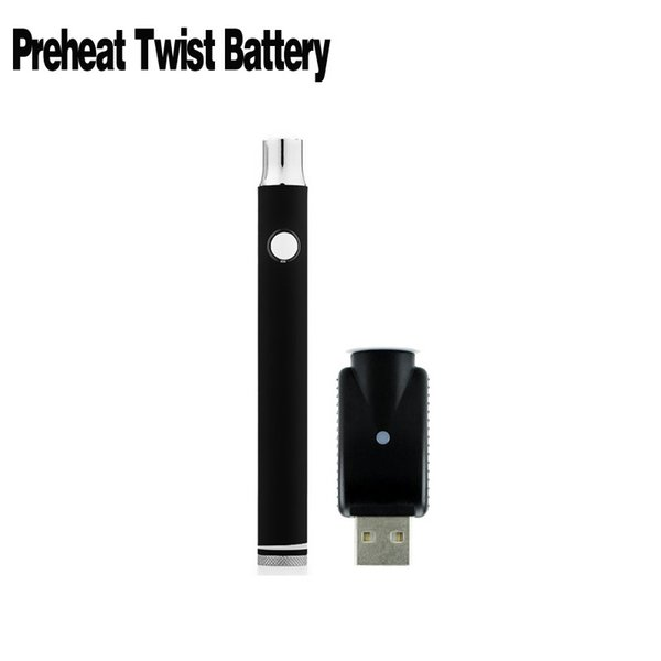 510 350mah Bottom Twist 2.0-4.0V Preheat Battery Wireless Charger Kits Vape With Preheating Function Adjustable Voltage For Oil Cartridges