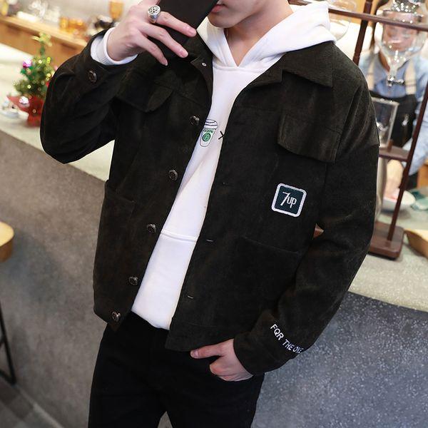 Großhandel Korean Fashion Jacke Mantel Man Cord Umlegekragen