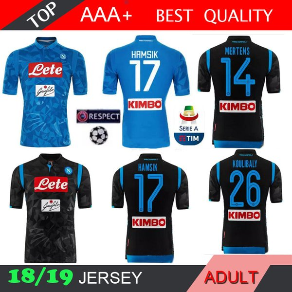 156754bd4 2018 2019 napoli champion league occer jer ey home away 18 19 naple zielin  ki ham