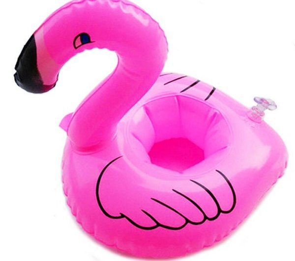 1000pcs Mini Flamingo Floating Inflatable Drink Can Cell Phone Holder Stand Pool Toys Event & Party Supplies DHL Free