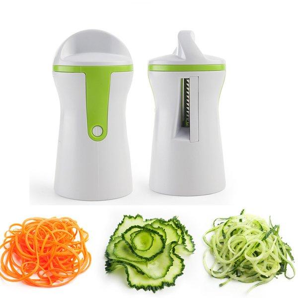 Vegetable Spiralizer Cutter Grater Kitchen Gadget Handheld Compact Veggie Spiral Slicer Noodles Zucchini Spaghetti Pasta Maker