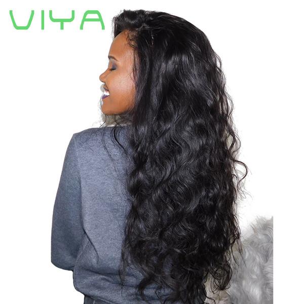 VIYA Brasilianische Reine Haareinschlagfäden 3 Bundles Natural Black Brasilianische Körperwelle Haar Spinnt Jungfrau Remy Menschenhaarverlängerungen