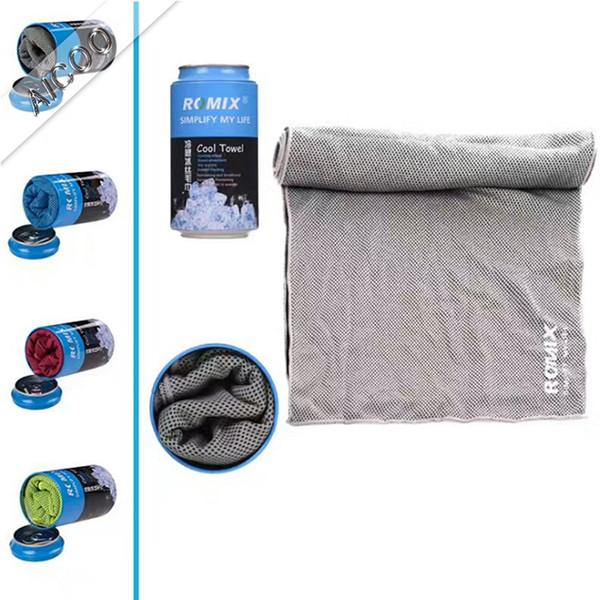 ROMIX Ice Cold Towel Cooling Summer Anti-insolación Deportes Ejercicio Cool Quick Dry Soft Transpirable Toalla de enfriamiento Aicoo