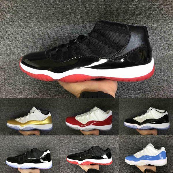 Großhandel Drop Shipping 2018 11S 11Miami Hurricanes PE Gym Rot Mitternachtsmarine Schuhe 11s Niedrig Samt Mens Womens Kinder Basketball Sneaker