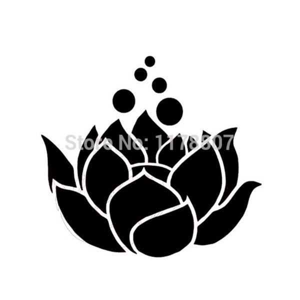 "HotMeiNi Wholesale 20pcs/lot Lotus Flower Bubbles For Car Window Truck SUV Bumper Auto Door Laptop Kayak Art Wall Die Cut -(5"" X 4.5"")"