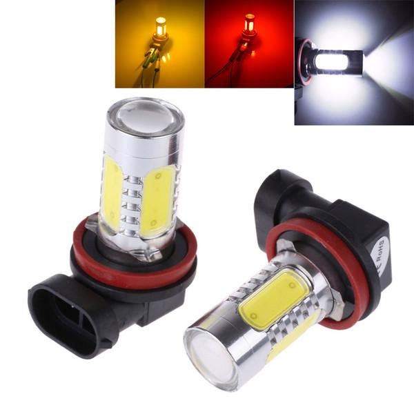2 Stücke Weiß H8 lampe H11 LED COB Lampe Auto Auto Licht DRL Fahren Nebelscheinwerfer 12 V DC