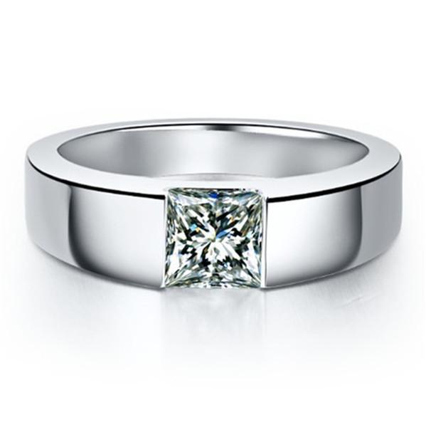 bague or blanc diamant pour homme