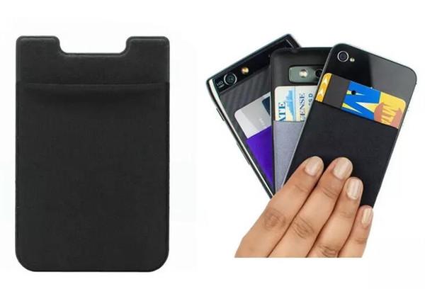 Universal Soft Sock Wallet Credit Card Cash Pocket Sticker Lycra Adhesive Holder Money Pouch Mobile Phone 3M Gadget iphone Samsung