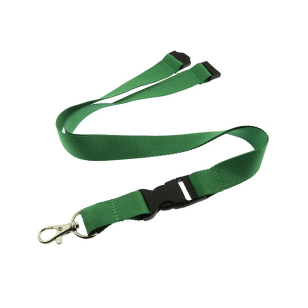 100pcs/lot Green Lanyard No Imprint 1inch wide Neck Strap Phone Rope Wholesale Lanyards E-Cigarette Necklace String safety clip
