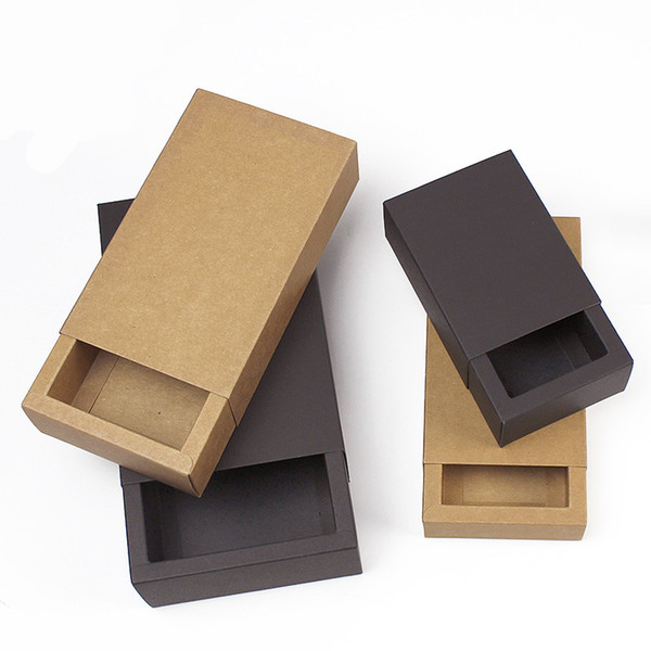 Kraft Paper Gift Candy Box Luxury Drawer Designer Tea Storage Container For Wedding Favor Supplies Eco Friendly Package Wrap 1hj5 ZZ