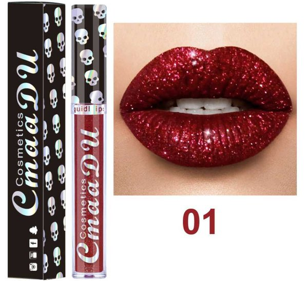 Drop Ship Matte metal color lipstick Europe and the United States gilt bright non stick cup lip gloss lasting waterproof golden lip gloss