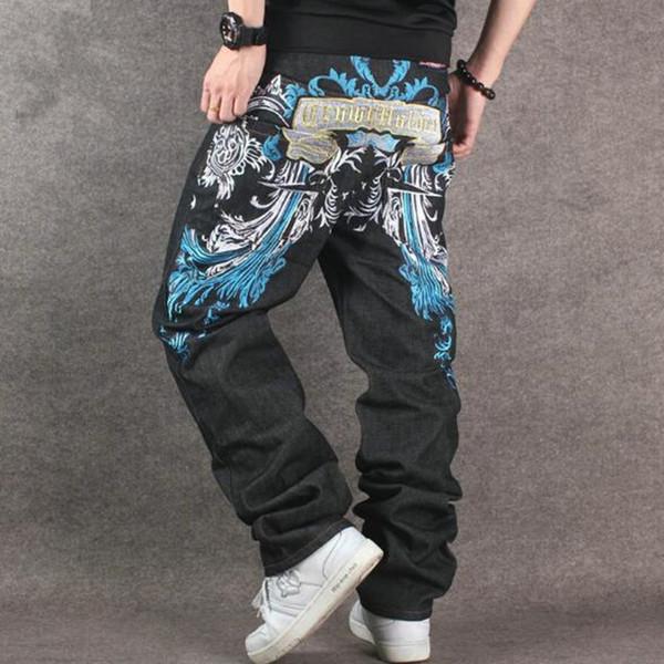 Thintenda Big Sizes Men Hip Hop Jeans Men Baggy Jeans Denim Hip Hop Pants Mens Streetwear Casual Loose Rap Trouser 6XL