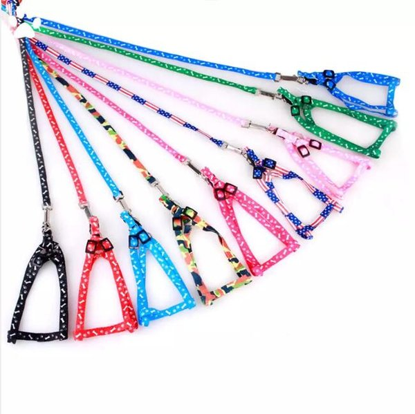 1.0*120cm Dog Harness Leashes Nylon Printed Adjustable Pet Dog Collar Puppy Cat Animals Accessories Pet Necklace Rope Tie Collar