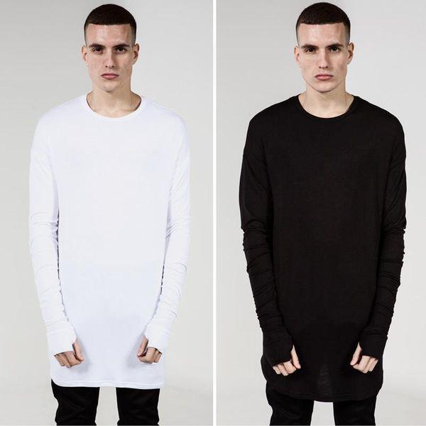 Мужская 2019 роскошная дизайнерская одежда мужчины с длинным рукавом футболки хип-хоп модная мужская рубашка повседневная футболка плюс размер XXXL