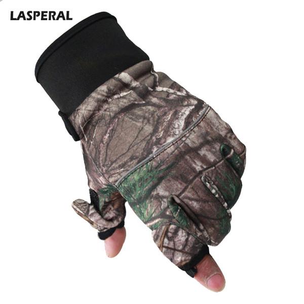 LASPERAL Men Bionic Camouflage Gloves Windstopper Waterproof Ski Gloves Elastic Breathable Wearable Running Glove Adjustable Men