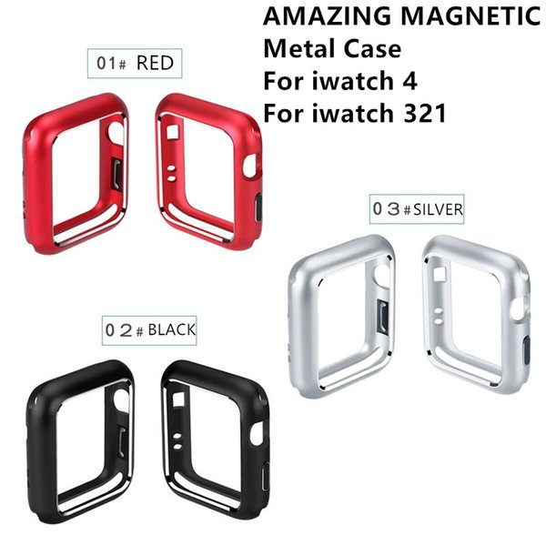 For iwatch 4 Magnet Metal Case 44MM 40MM cover Shell bumper cases for Apple watch 4 3 2 1 38MM 42MM Smart accesspories
