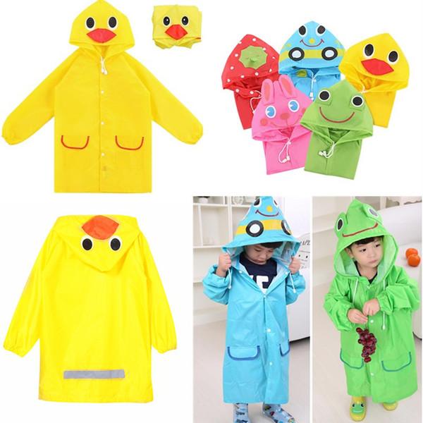 Cute Waterproof Kids Rain Coat Boys Girls Rainwear Cartoon Animal Raincoat for Children Unisex Student Poncho Rain Coat Jacket