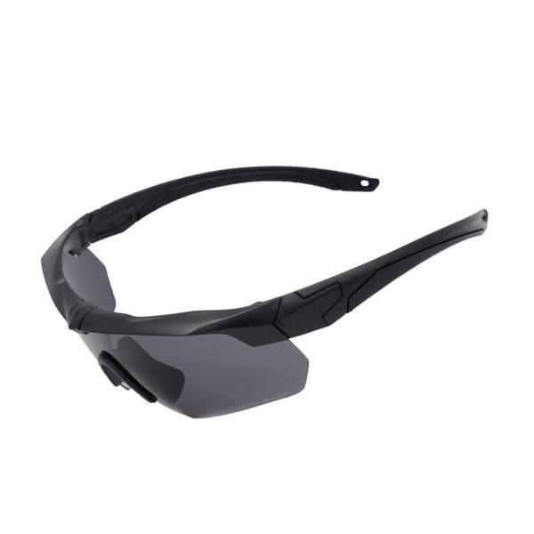 Óculos de ciclismo Óculos 5 Lentes TR 90 Homens Mulheres Óculos De Sol Do Exército Óculos De Esporte À Prova De Óculos De Sol NÃO-Polarizados