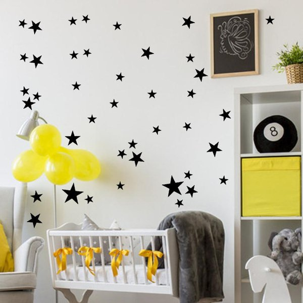 51Pcs Star Removable Art Vinyl Mural wall stickers for baby room boy home decor living room #PY4W