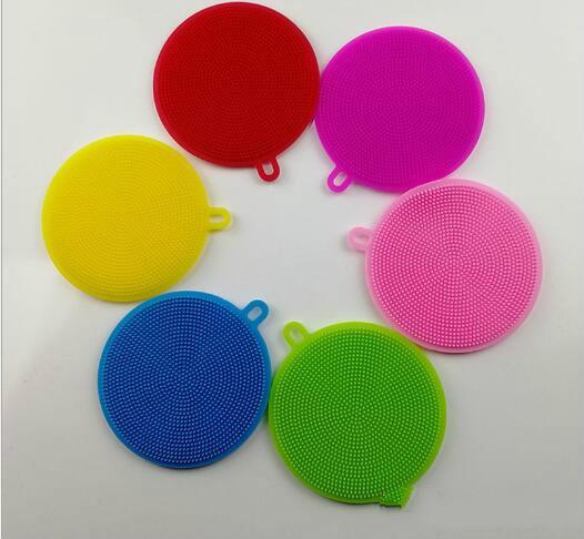 2018 Hot sales 8 colors Magic Silicone Dish Bowl Cleaning Brushes Scouring Pad Pot Pan Wash Brushes Cleaner Kitchen